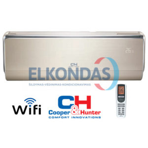 Cooper&Hunter VIP Inverter CH-S18FTXHV-B efektyvus šildymas iki -30°C
