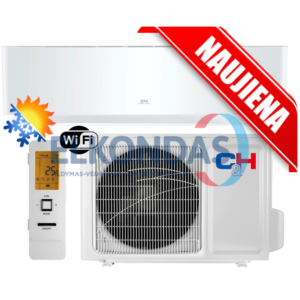 C&H SUPREME WHITE Inverter CH-S24FTXAM2S-WP efektyvus šildymas iki -30°C