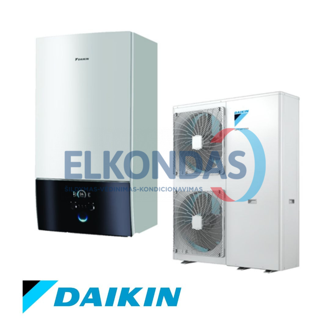 Daikin Altherma 3 šilumos siurblys oras-vanduo EPGA11DV/EABH16D6V be vandens talpos