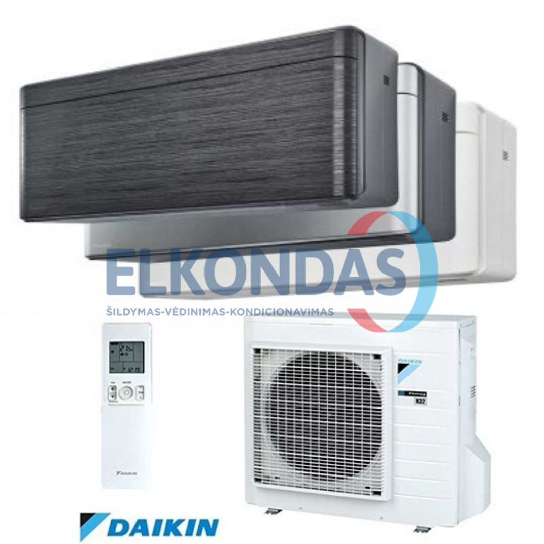 Oro kondicionierius/ šilumos siurblys (oras-oras) Daikin STYLISH Split Inverter FTXA20AW-BS-BT-BB/RXA20A (-15°C)