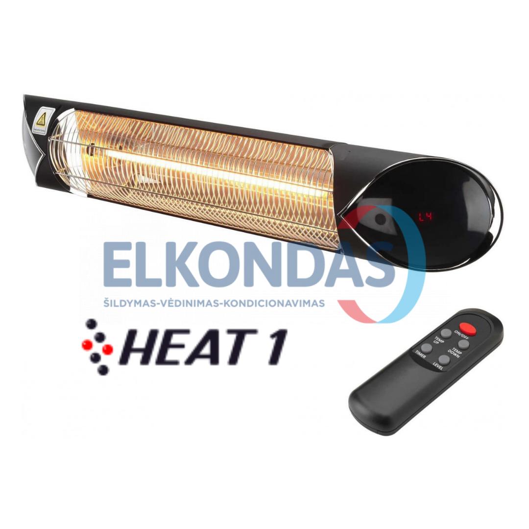 Reguliuojamos galios infraraudonųjų spindulių šildytuvas su anglies pluošto kaitinimo elementu HEAT1 CARBON BLACK 2000 | HEAT1