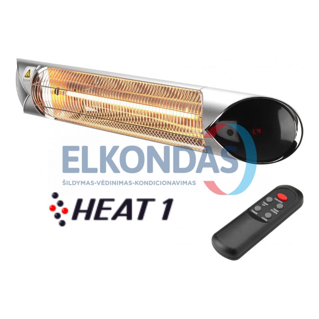 Reguliuojamos galios infraraudonųjų spindulių šildytuvas su anglies pluošto kaitinimo elementu HEAT1 CARBON SILVER 2500 | HEAT1