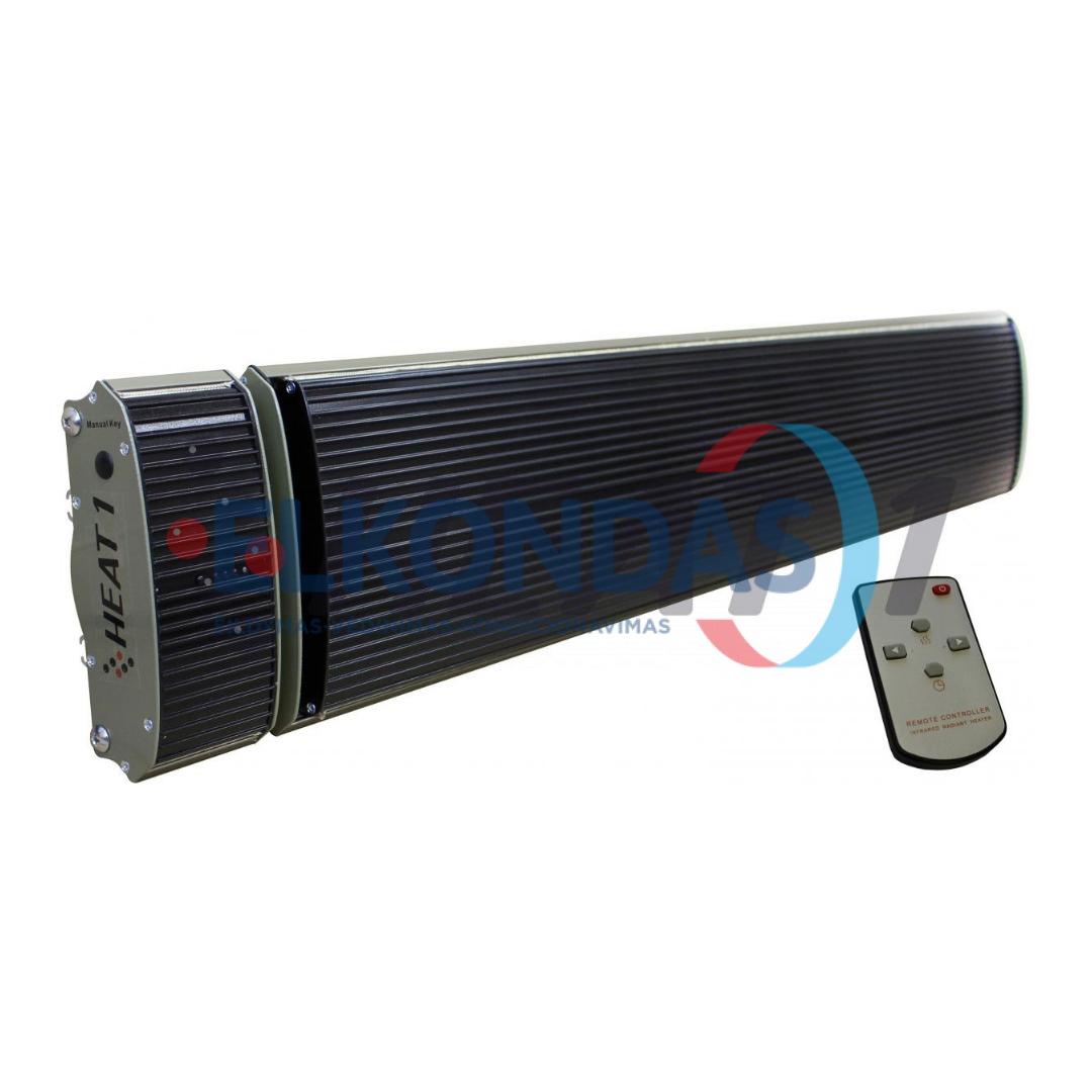 Neskleidžiantis šviesos reguliuojamos galios elektrinis infraraudonųjų spindulių šildytuvas – Prestige H1-10B | HEAT1